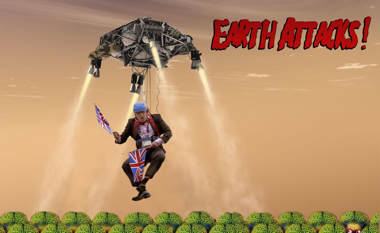Earth Attacks! My Dangle Boris meme