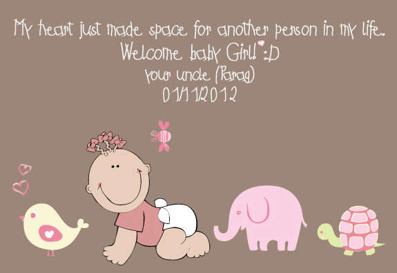 I am uncle again: Welcome baby!!!