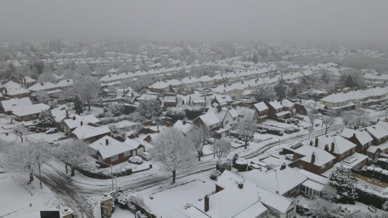 Wolverhampton covered in snow: Mavic air 2